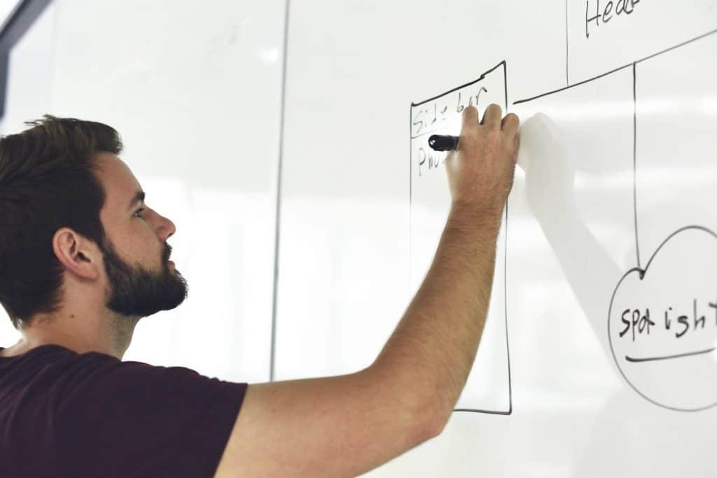 """Der Heimwerker Typ """"Perfektionist"""". Die Position des Kleiderhakens errechnet er mit der Quadratwurzel."""